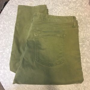 Banana Republic brushed twill ankle skinny pants